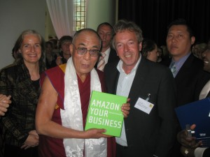 Dalai Lama receiving Amazon Your Business