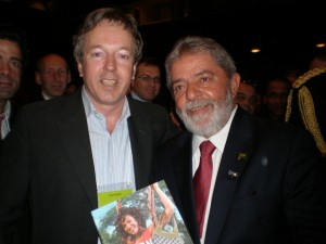 President Lula Da Silva receives the book 'Amazon Your Business'