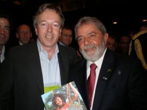 President Lula Da Silva receives the book 'Amazon Your Business'